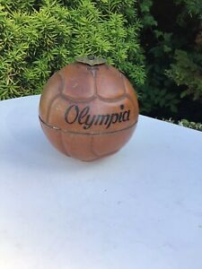 Antique Lace Up Football ,Cigarette holder and Dispenser. Olympia,nice Old Item