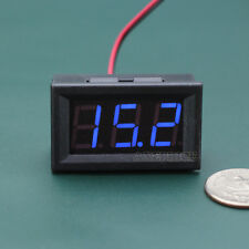 Mini DC 5-120V Digital Voltmeter Blue LED Display Panel Voltage Meter Motorcycle