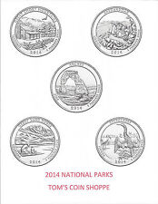 2014 NATIONAL PARK QUARTERS COMPLETE P&D SET - 10 COINS  *****IN-STOCK*****