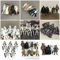 "LOT 5PCS Star Wars 2005 Clone Pilot TROOPER/Darth Vader Action Figure 3.75"" Toy"