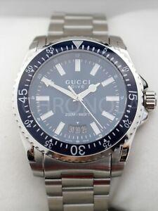 GUCCI Dive XL 45 mm YA136.203 Navy Blue Dial Mens Quartz Stainless Steel Watch