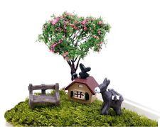 4 pcs of Miniature DonkeyTerrarium Set Fairy Garden Animal Ornament