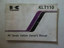 1985 Kawasaki KLT110 All Terrain Vehicle Owner's Manual KAWASAKI WATER DAMAGED