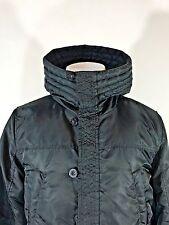 Cheap Monday Coat High Collar Tim Winter Parka Hooded Black Jacket Vintage Men's