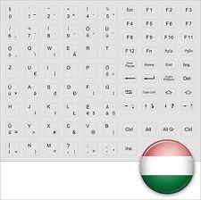 KEYBOARD STICKERS HUNGARIAN HUNGARY GREY - KEYBOARD STICK GREY MAGYAR - NEW