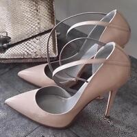 Women High Heels Pointed Toe Ankle Strap Stiletto Slip On Party Pumps Shoes Size