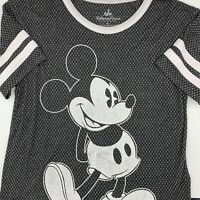 Disney Parks Mickey Mouse Established 28 Womens Size Small Mesh Shirt Soft Black