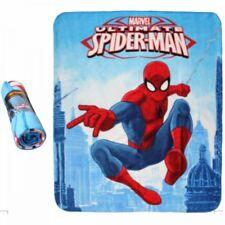 Plaid  couverture polaire Spiderman bleu 120 x 140 cm NEUF