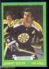 Johnny Bucyk signed autographed Auto 1973-74 Topps card #26 Bruins