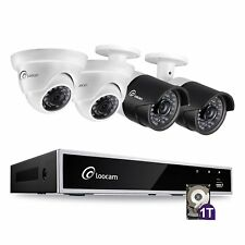 Loocam 4ch HD-TVI 1080p DVR 1To HDD avec 4pcs 2.0MP Kit Camera Surveillance CCTV