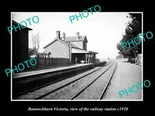 OLD LARGE HISTORIC PHOTO OF BANNOCKBURN VICTORIA, THE RAILWAY STATION 1920