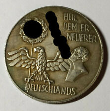 Piece Hitler 1938 5RM Reichsmark Coin Heil Dem Er Neuer ww2 German