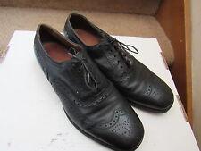 Allen Edmonds McAllister black leather shoes wingtip oxford sz 10.5 C Ostendo
