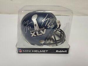 PACKERS Jordy Nelson #87 & James Jones #89 Signed Mini Helmet w/ COA