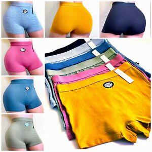6 Boyshort Sports High Waisted ACTIVE WEAR SHORTIE Panties Undies Underwear S-XL