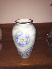 Victorian Bristol Hand Painted Milk Glass Vase