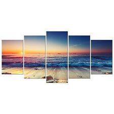 Canvas Wall Art Print Painting Home Decor Landscape Seascape Sea Beach Framed