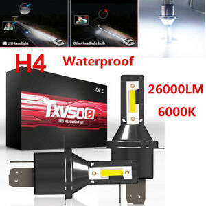 H4 Hi/Lo LED bulbs Car LED Headlight Headlamp 26000LM 6000K 110W Conversion Lamp