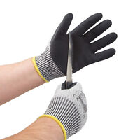 JORESTECH Gloves Knit Cut 5 Sandy Nitrile Dip Gloves NEW- 1 Pair