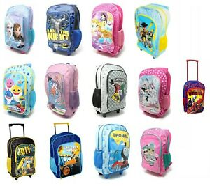 Children's Disney Character Luggage Deluxe Wheeled Trolley Backpack Suitcase Bag