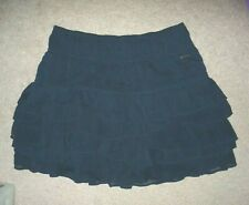 Hollister California Navy Blue sheer tiered lined short mini skirt Size S NEW