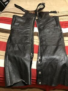 Ladies Motorcycle Chaps Black Extra Small Has A Removable Lining