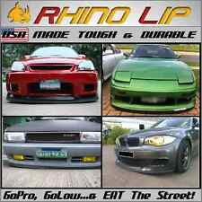 Flexible Rubber Front Lower Valance Panel Chin Spoiler Under Panel Lip Splitter
