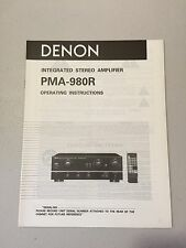 DENON PMA-980R AMPLIFIER Owner's Manual Original - NOS