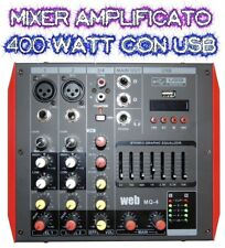 MIXER AMPLIFICATO ATTIVO 400W BLUETOOTH DJ LIVE EFFETTI + DISPLAY + USB + PHANTO