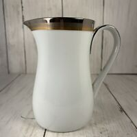 Noritake Compton 6524 Japan Platinum Bronze GoldBand China Creamer