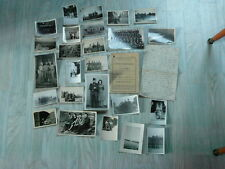 lot papier photos livret engage volontaire francais  en 1945 alger blida afn
