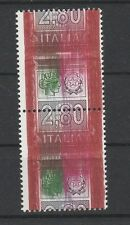 FRANCOBOLLI 2004 REPUBBLICA ALTO VALORE COPPIA L.2,80 VARIETA' MNH D/6270