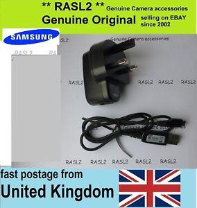 Genuine Original Samsung Charger AD5055 + USB Cable WB280F WB30F WB250F WB32F