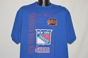 vintage 90s NEW YORK RANGERS NY PRINCE OF WALES BLUE NUTMEG t-shirt HOCKEY XL
