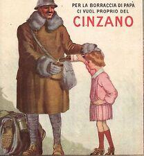 PUBBLICITA' 1918 VERMOUTH CINZANO SOLDATO MILITARE BORRACCIA GUERRA ZAINO ALPINO