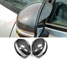 2PCS Carbon Fiber Rearview Door Side Mirror Cover For Honda Fit 2013-2019