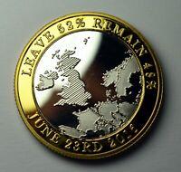 BREXIT Dual Metal Silver & 24ct Gold Commemorative. UK EU Politics Europe