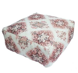 Beanbag Square Moroccan Rug Ottoman Pouffe Pouf Footstool Coffee Table SofaCover