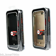 """Apple iPhone 6/6s Battery Case 4,7"""" 7000mAh Battery Charger Cover-Bk/Gd color"""