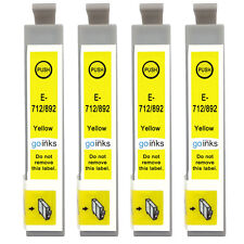4 Yellow Ink Cartridges for Epson Stylus D5050, DX5000, DX8450, SX100, SX215