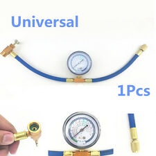Universal R12/R22 Car Air Conditioning Refrigerant Recharge Hose Pipe+can Gauge