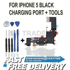 for iPhone 5 Black Charging Port Tools - Replacement Charger Flex USB Dock
