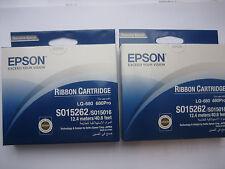 2 x Epson s015262 lq-680 pro ruban original rech + tva OVP