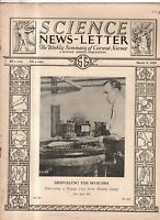 1929 Science Newsletter March 9 - Einstein theory questioned; Yellow fever death