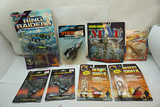 VINTAGE MILITARY TOYS MIXED LOT MATCHBOX RING RAIDERS FIGURES TOOTSIETOY JET MIP