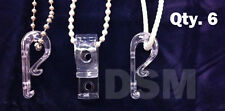 Qty (6) Hold Down for Looped Cord or Chain, Tensioner, Window Blind Loop Holder
