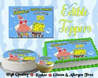 Peachy Whats Funnier Than 24 Spongebob Squarepants Cake Topper Edible Funny Birthday Cards Online Alyptdamsfinfo