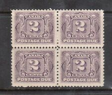 Canada #J2c VF/NH Scarce Block
