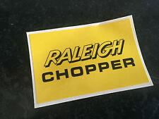 Raleigh Chopper MK2 & MK3 Seat Back Plate Decal - Gloss Black on Golden Yellow