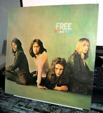 """FREE.  """"FIRE AND WATER""""  ISLAND UK 1970 LP. PINK RIM PALM TREE LABELS,"""